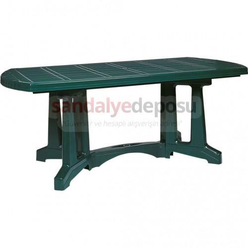 90x180 plastik masa demonte yeşil