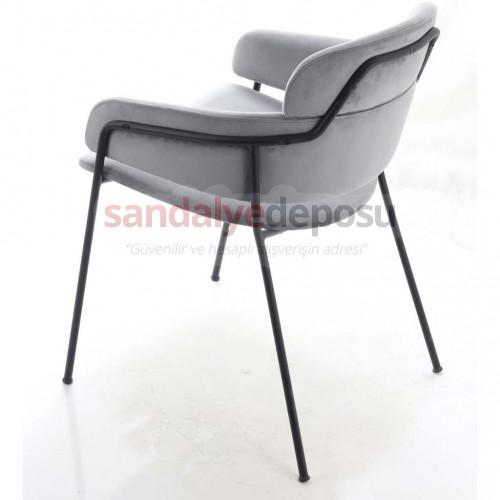 Köseli Metal Ayaklı Sandalye