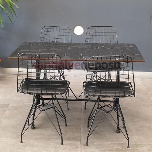 Kafeterya masa takımı 70x120 (1masa+4sandalye)