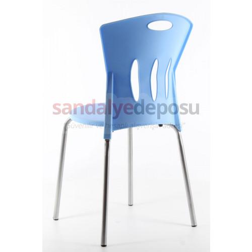 Stella plastik sandalye A.mavi