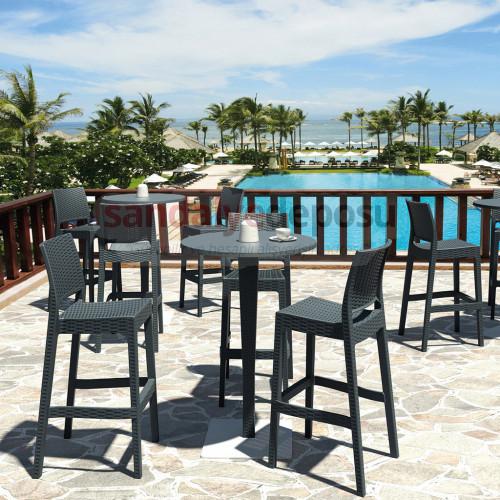 Leroy Rattan Bar Sandalyesi Takımı 2+1 ( 02 )