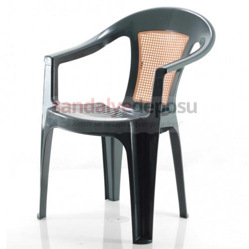 Grand Kollu Plastik Sandalye Yeşil