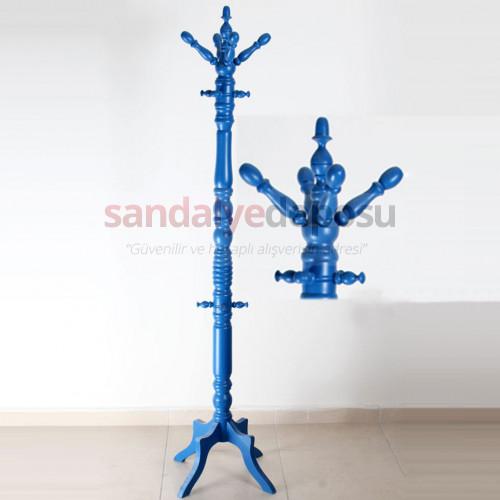 Liman Ahşap Askılık Mavi