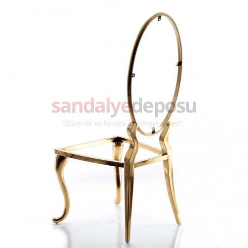 Armer Paslanmaz Sandalye Gold İskelet