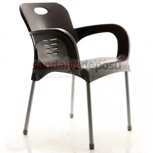 Tuğra Kollu Poliproplen Sandalye Koyu Kahve