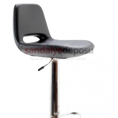 Rasko Bar Sandalyesi Siyah ( Deri 01 )