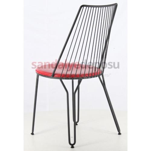 Cemre Metal Sandalye Siyah