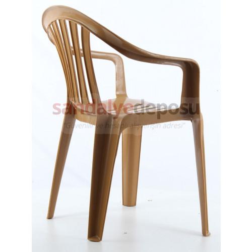 Palmiye plastik sandalye Teak