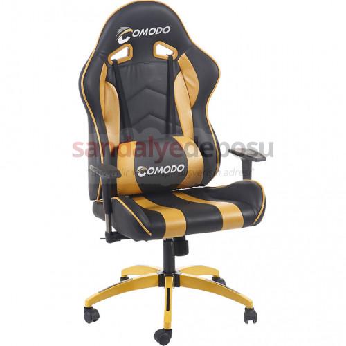 Comodo Oyuncu Koltuğu Sarı Deri