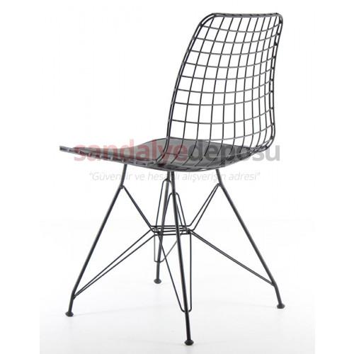 Aymes Metal Sandalye Siyah ( sınırlı adet için )