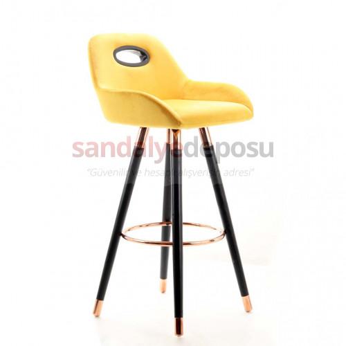 Doğu Plus Bakır Renk Kaplama Bar Sandalyesi