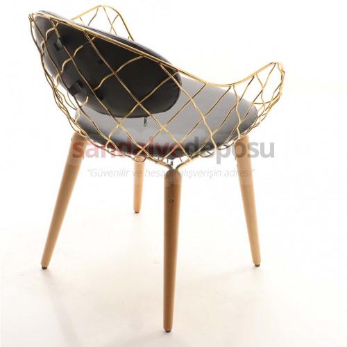 Duffy Modern Ahşap Ayaklı Sandalye