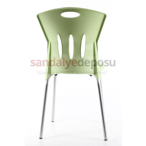 Stella plastik sandalye Yeşil