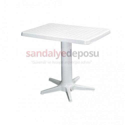 Ortadan Ayaklı Plastik Masa 60x85 Beyaz