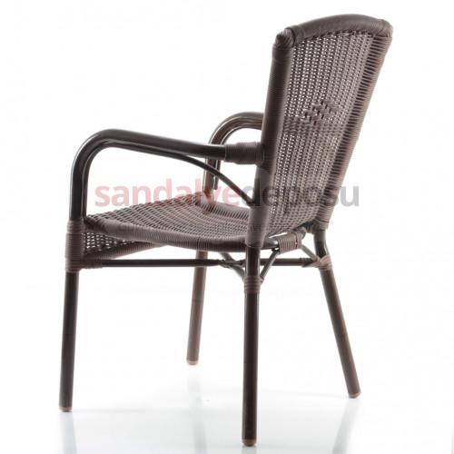 Mozaik rattan sandalye kollu