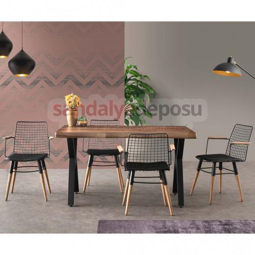 Costa Masa Ve Sandalye Takımı 4+1