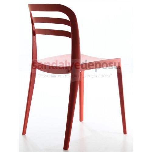 Yakamoz Kolsuz PP Sandalye Kırmızı