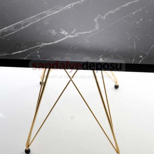 Greta Gold Kaplama Ayaklı Kafeterya Masası 70*70 ( Melamin )