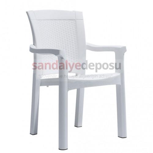 Marco Kollu PP Sandalye Beyaz