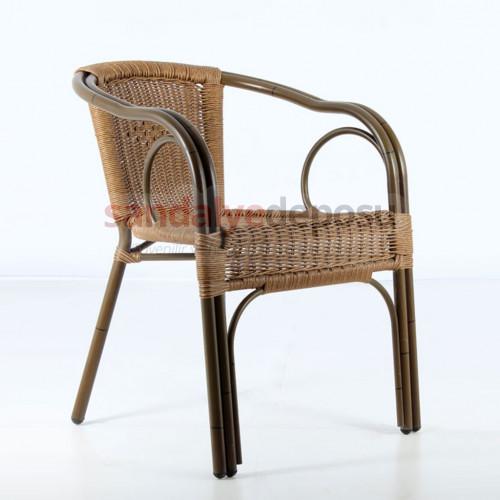 Badem alüminyum sandalye eskitme 01 (Sınırlı adet)