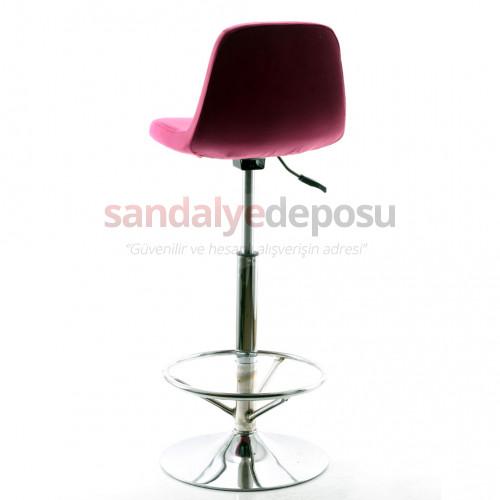 Gabriel Krom Tepsi Ayaklı Bar Sandalyesi (Kumaş 416)