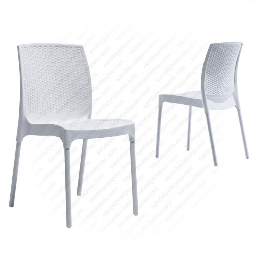 Manyas PP Alüminyum Ayaklı Sandalye Beyaz