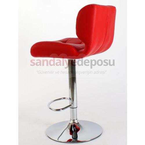 Gizem Derili Bar Sandalyesi Kırmızı