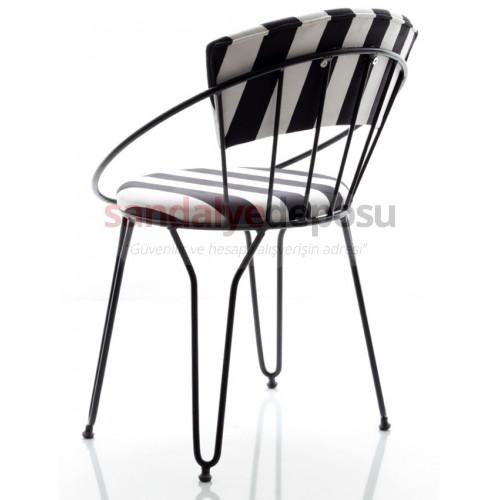 Comodo Metal Sandalye Zebra