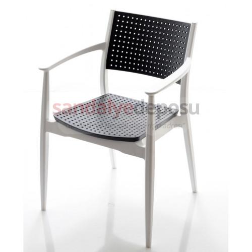 Mavenna p.p sandalye Beyaz