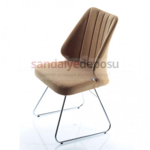 Atmaca krom ayaklı sandalye 2