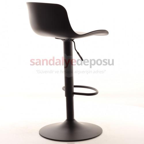 Affan Bar Sandalyesi Siyah