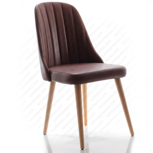 Sanna 2 Ahşap Ayaklı Sandalye