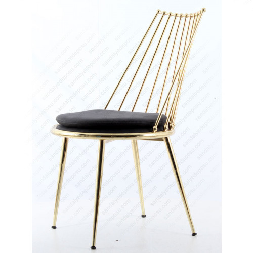Lüx Hilton Sandalye Pirinç 2