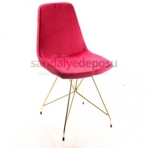Gabriel 2 Gold Kaplama Ayaklı Sandalye ( Kumaş 416 )