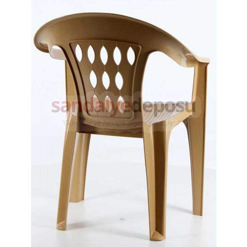 Damla Plastik Sandalye Teak