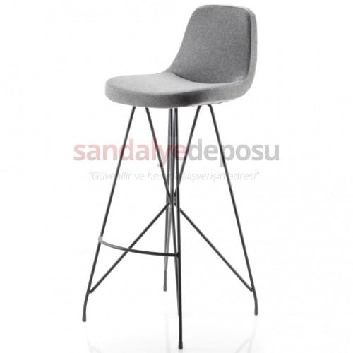 Gabriel Boyalı Metal Ayaklı Bar Sandalyesi (Patara 17)