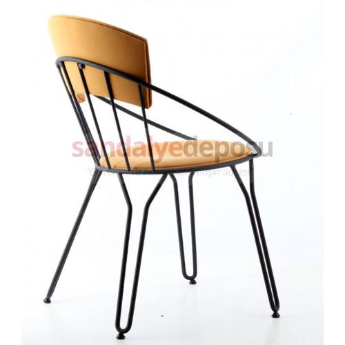 Comodo Metal Sandalye Hardal