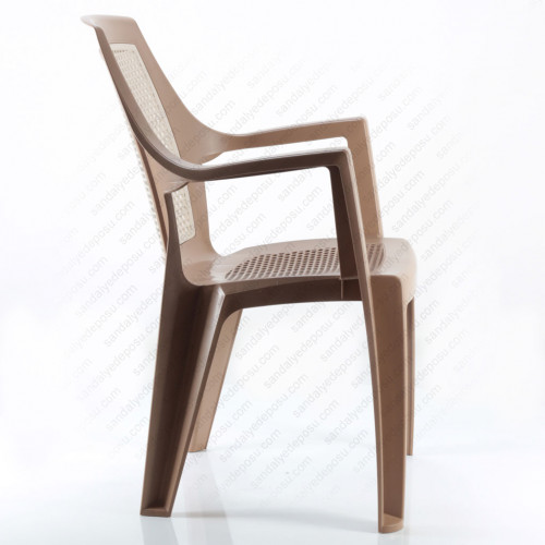 Mira plastik sandalye kahve