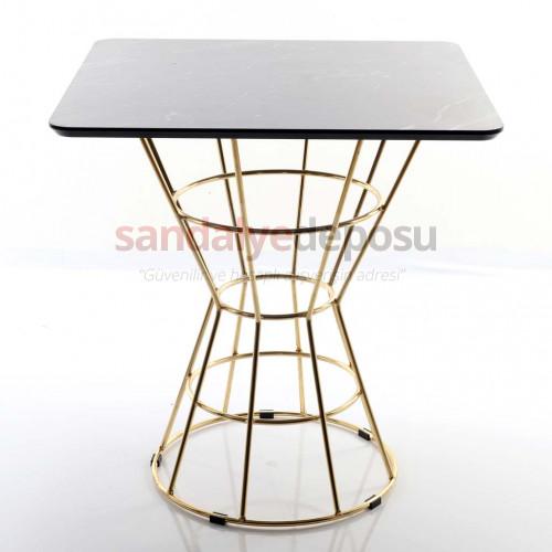 Boby Gold Kaplama Ayaklı Kafeterya Masası 70*70 ( MDF )