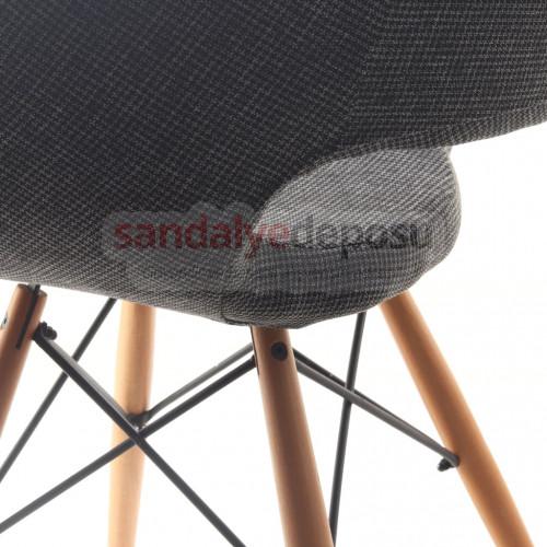 Fiesta Çapraz Ahşap Ayaklı Sandalye Keten ( Lara 307 )