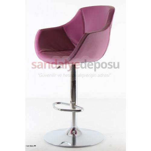 Focus Geniş Bar Sandalyesi Lila