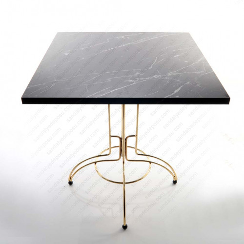 Jovan Gold Kaplama Ayaklı Kafeterya Masası 70*70 ( Melamin )