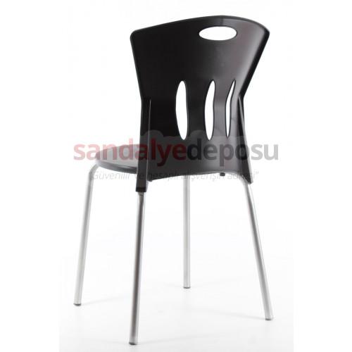 Stella plastik sandalye Siyah
