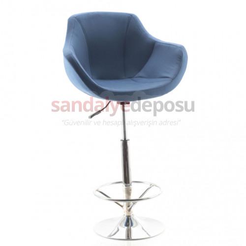Focus Geniş Tepsi Ayaklı Bar Sandalyesi Kumaş 447