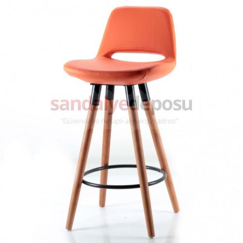Rasko Sabit Ayaklı Bar Sandalyesi (Deri 23)