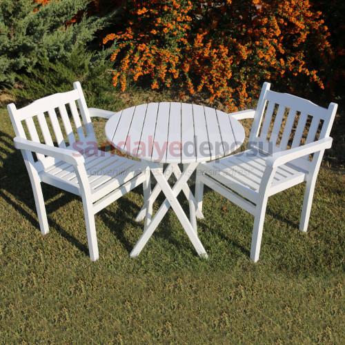 Güce Ahşap Yuvarlak Masa Sandalye Takımı