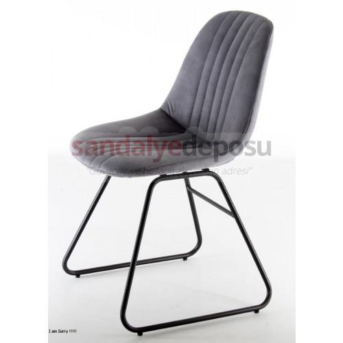 Micra Boyalı Transmisyon Ayaklı Sandalyesi Antrasit