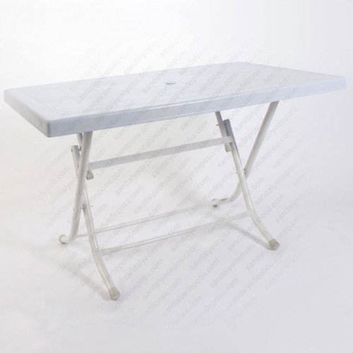 Plastik katlanır masa beyaz 70x120 (Kampanyalı)