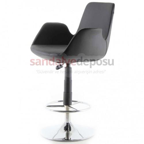 Montera Çemberli Bar Sandalyesi Siyah