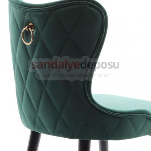 Heybeli Ahşap Ayaklı Sandalye